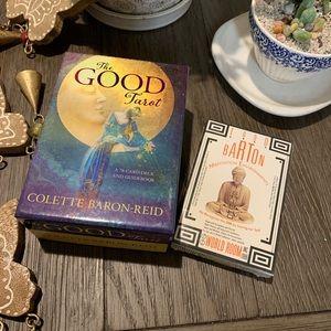 Positive tarot cards/meditation cassette